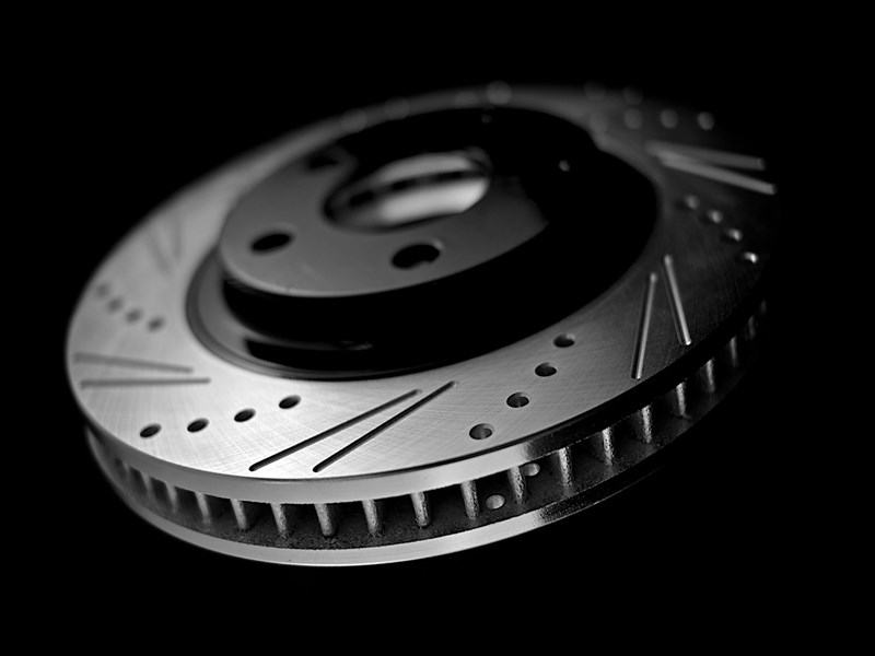 street adam's rotors exclusive double-slot and drilled slotted machined performance rotor