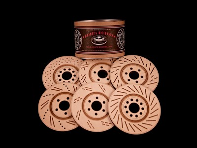 LASER CUT WOOD ROTOR COASTERS | SET OF 6